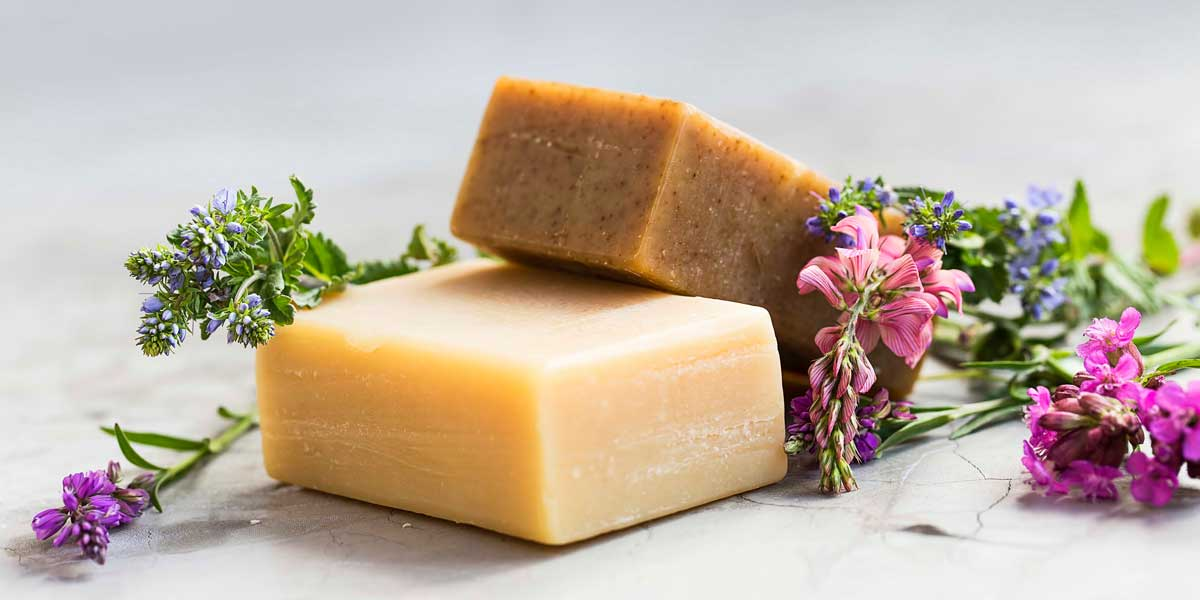 Handmade soap decorated with fresh flowers | SageFolk plastic free online shop