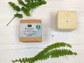 Bain & Savon rosemary shampoo bar with cardboard box packaging | Sage Folk