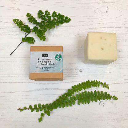 Bain & Savon rosemary shampoo bar with cardboard box packaging | Sage Folk