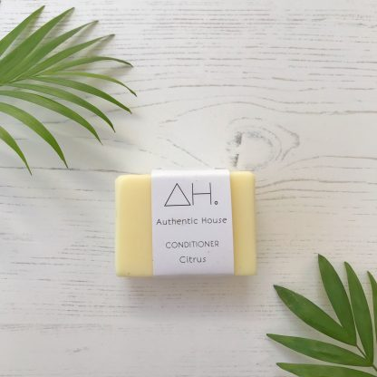 Solid citrus conditioner bar by Authentic House | Available at Sage Folk