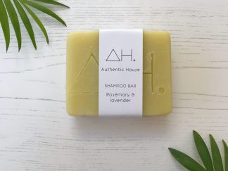 Rosemary and lavender solid shampoo bar by Authentic House | Available at Sage Folk