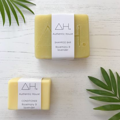Rosemary and lavender solid shampoo and conditioner bar by Authentic House | Available at Sage Folk