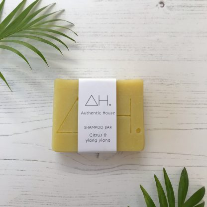Citrus and ylang ylang solid shampoo bar by Authentic House | Available at Sage Folk