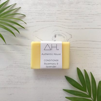 Solid rosemary and lavender conditioner bar by Authentic House | Available at Sage Folk