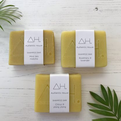Authentic House solid shampoo bars available at Sage Folk