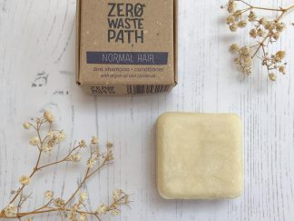 Solid Shampoo Bar for Normal Hair Types by Zero Waste Path | Available at Sage Folk