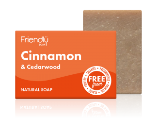 Cinnamon & Cedarwood natural soap bar by Friendly Soap - Available at Sage Folk