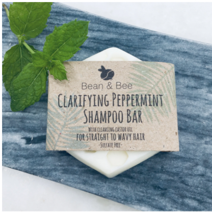Clarifying Peppermint Zero Waste Shampoo Bar by Bean & Bee | Available at Sage Folk