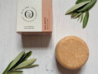 Balance shampoo bar for oily hair by Wild Ona | Available at Sage Folk