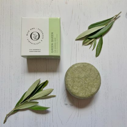 Green Queen solid shampoo bar by Wild Ona | Available at Sage Folk