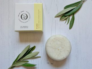Pure shampoo bar for dry scalps by Wild Ona | Available at Sage Folk