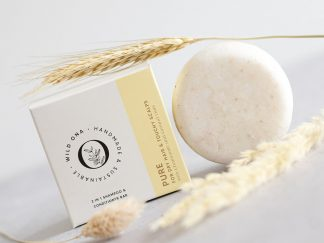 PURE shampoo bar for dry hair by Wild Ona - Large 90g size | Available at Sage Folk