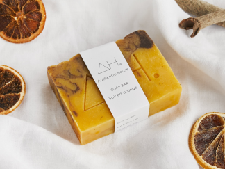 Spiced orange soap bar by Authentic House   Available at Sage Folk